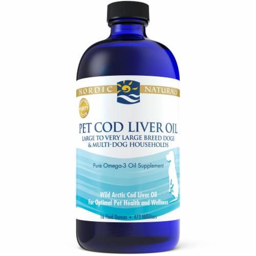 Nordic Naturals Pet Cod Liver Oil Dog Supplement Perspective: front