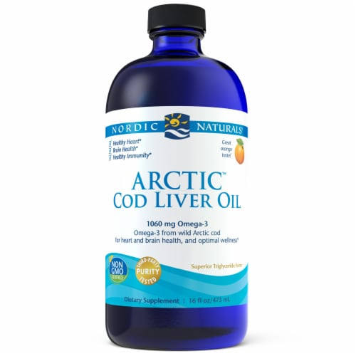 Nordic Naturals Arctic Orange Flavor Cod Liver Oil Perspective: front