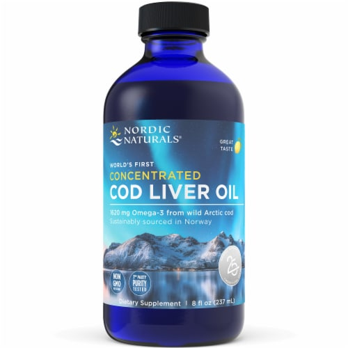 Nordic Naturals Concentrated Arctic Cod Liver Oil Perspective: front