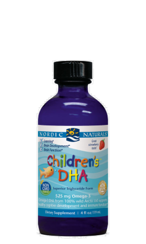 Nordic Naturals Children's DHA Strawberry Perspective: front