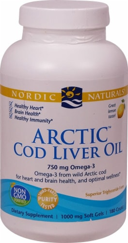 Nordic Naturals  Arctic Cod Liver Oil Perspective: front