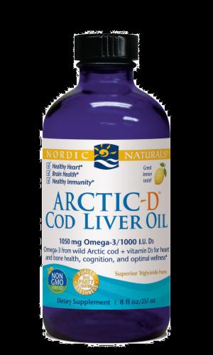 Nordic Naturals Lemon Arctic-D Cod Liver Oil Perspective: front