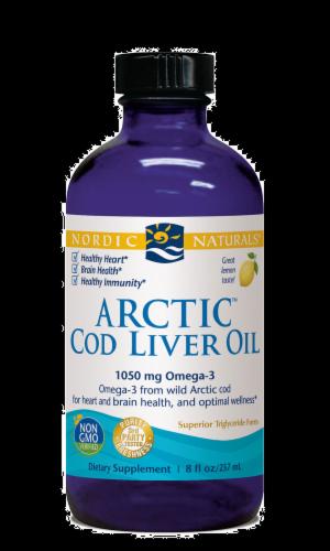 Nordic Naturals Lemon Arctic Cod Liver Oil Perspective: front