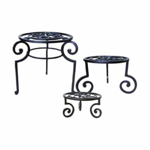 Pomeroy Venice Set of 3 Plant Stands/Garden Stools Perspective: front