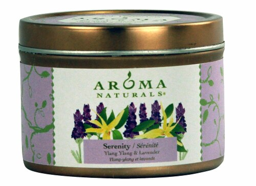 Aroma Naturals  Soy VegePure® Candle Serenity Ylang Ylang and Lavender Perspective: front