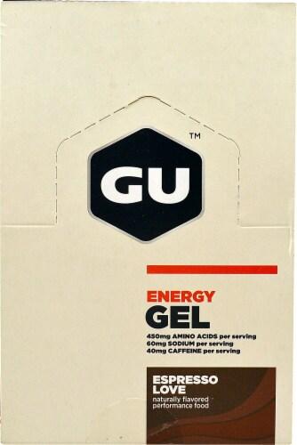 GU Energy Labs  Energy Gel   Espresso Love Perspective: front