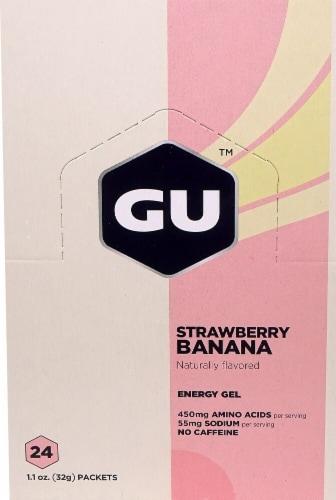 GU Energy Labs  Energy Gel   Strawberry Banana Perspective: front