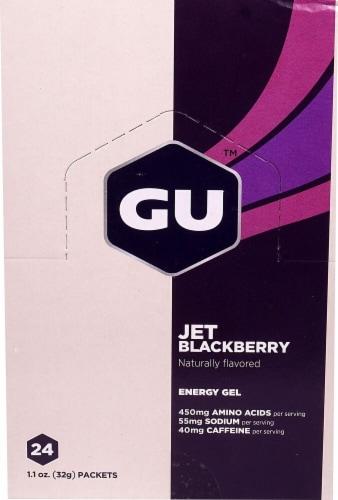 GU Energy Labs  Energy Gel®   Jet Blackberry Perspective: front