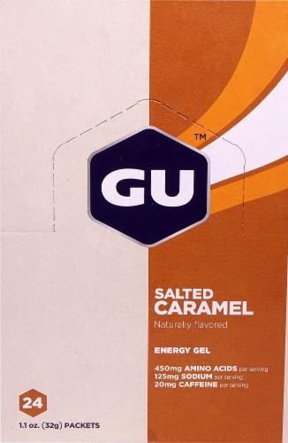 GU Energy Labs  Energy Gel   Salted Caramel Perspective: front