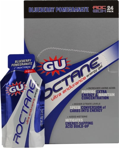 GU Energy Labs  Roctane™ Ultra Endurance Energy Gel   Blueberry Pomegranate Perspective: front