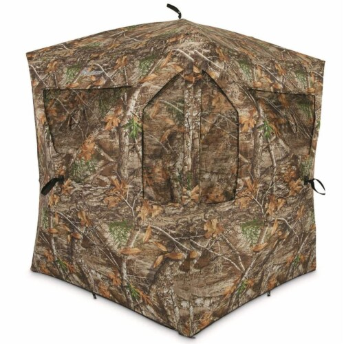 Plano AMEBL3029 Ameristep Outdoor 3 Person Brickhouse Hunting Blind, Camouflage Perspective: front