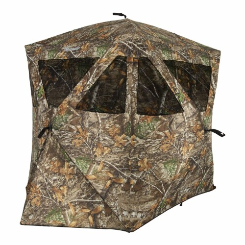 Ameristep Care Taker Kick Out Outdoor 2 Person Hunting Blind Perspective: front