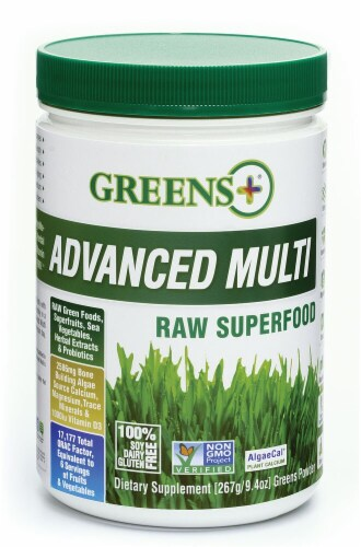 Greens Plus  Advanced Multi Superfood   Unflavored Perspective: front