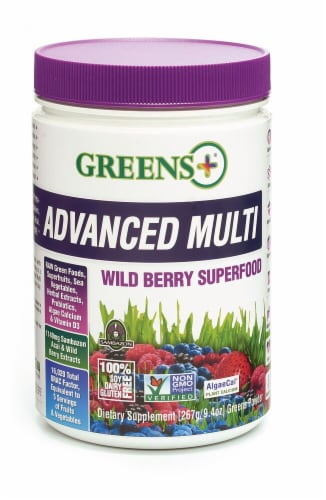 Greens Plus  Advanced Multi Superfood   Wild Berry Perspective: front