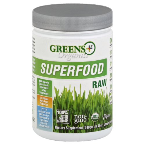 Greens Plus Organics Superfood Raw Perspective: front