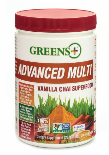 Greens Plus  Advanced Multi Superfood™   Vanilla Chai Perspective: front