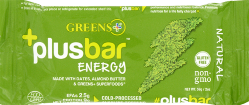 Greens Plus Natural Energy Bars Perspective: front