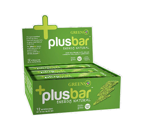 Greens Plusbar Natural Energy Nutrition Bars 12 Count Perspective: front
