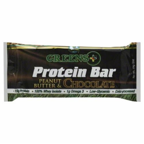 Greens Plus Chocolate Peanut Butter Protein Bar Perspective: front