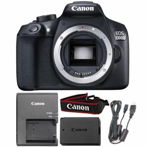 Canon Eos 1300d / T6 18mp Digital Slr Camera Body (black) Perspective: front