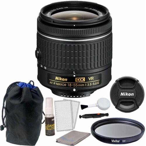 Nikon 18-55mm F/3.5 - 5.6g Vr Af-p Dx Nikkor Lens For Nikon D3300 Dslr Camera Perspective: front