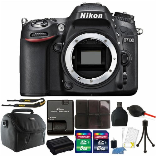 Nikon D7100 24.1mp Digital Slr Camera With Accessory Bundle Perspective: front