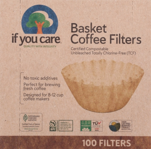 If You Care Basket Coffee Filters Perspective: front