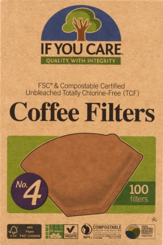 If You Care No. 4 Size Coffee Filters Perspective: front
