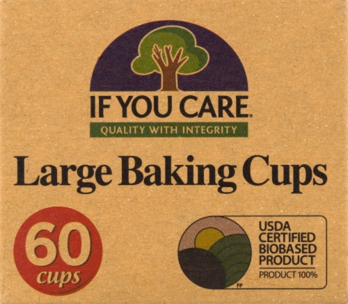 If You Care Unbleached Large Baking Cups Perspective: front