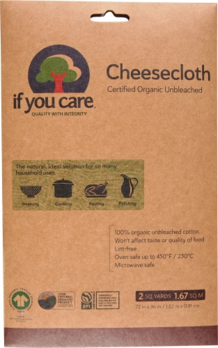 If You Care Unbleached Cheesecloth Perspective: front