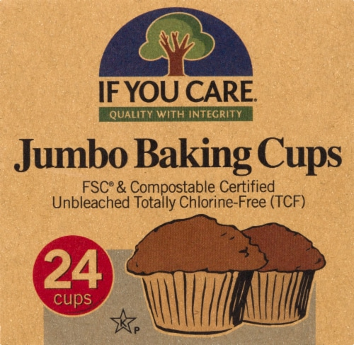 If You Care Unbleached Jumbo Baking Cups Perspective: front
