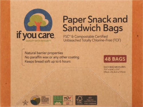 If You Care Paper Snack & Sandwich Bags Perspective: front