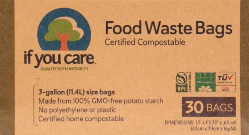 If You Care 3 Gallon Certified Compostable Food Waste Bags Perspective: front