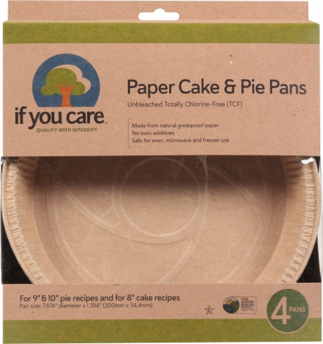 If You Care Paper Cake & Pie Pans Perspective: front