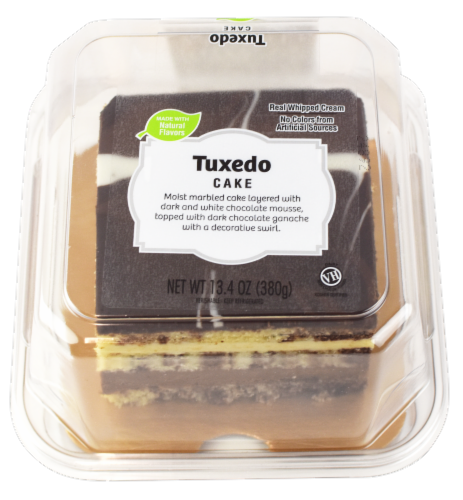 Tuxedo Layered Cake Perspective: front