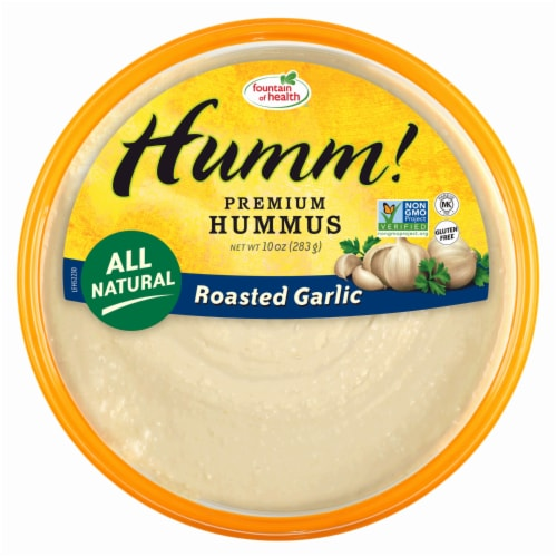 Fountain of Health Humm! Roasted Garlic Hummus Perspective: front