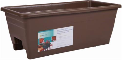 Myers Lawn & Garden Deck Railer Planter - Chocolate Perspective: front