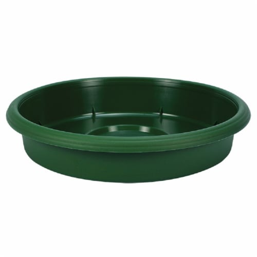 The HC Companies Grower Saucer - Green Perspective: front
