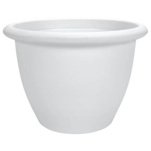 The HC Companies Sevilla Planter with Internal Disk - White Perspective: front