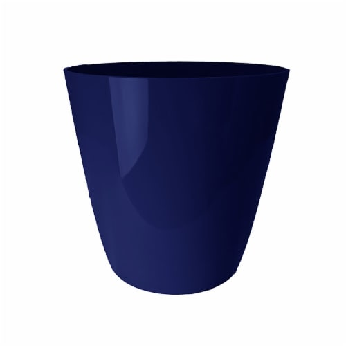 The HC Companies Aria Round Planter - Sapphire Blue Perspective: front