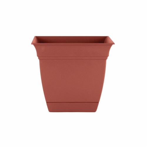 The HC Companies Eclipse Resin Clay Planter Perspective: front