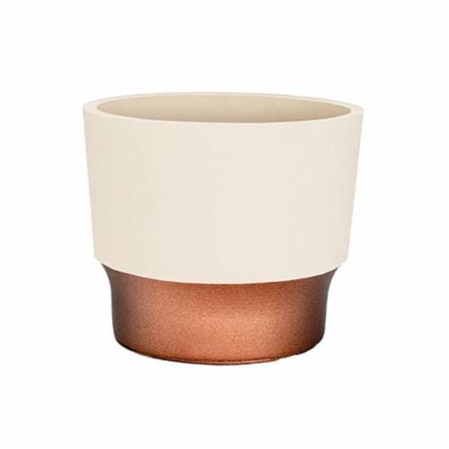 The HC Companies Sprite Succulent Pot - Vanilla Bisque Perspective: front