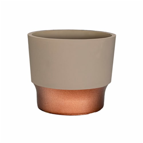 The HC Companies Sprite Succulent Pot - Artisan Taupe Perspective: front