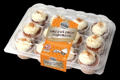 Two-Bite Mini Carrot Cake Premium Cupcakes Perspective: front