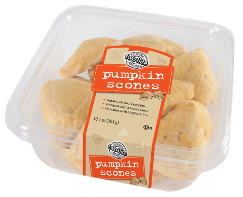 Two-Bite Pumpkin Spice Scones Perspective: front