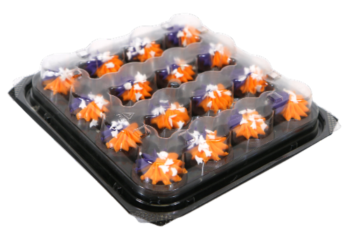 Two-Bite Ghost Sprinkle Brownies Party Platter Perspective: front