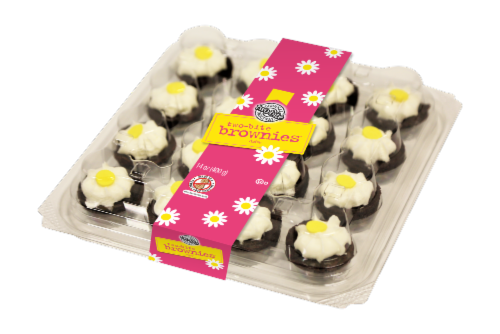 Two-Bite Daisy Party Planner Brownies Perspective: front