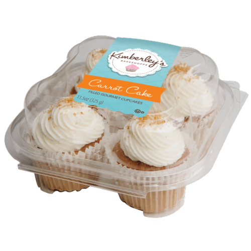Kimberley's Bakeshoppe Carrot Cake Filled Gourmet Cupcakes Perspective: front