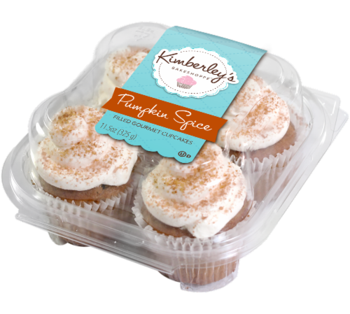 Kimberley's Bakeshoppe Pumpkin Spice Cupcakes Perspective: front