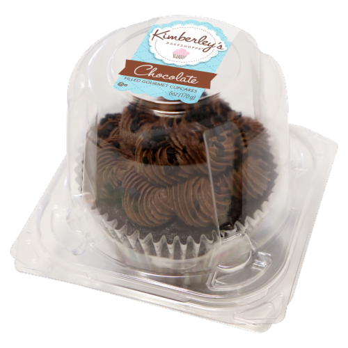 Kimberley's Bakeshoppe Chocolate Filled Gourmet Cupcake Perspective: front